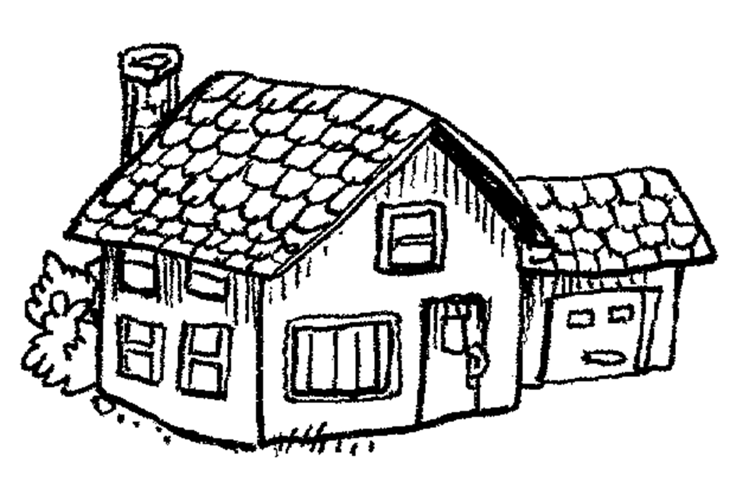 1500x966 Coloring Pages Of Houses Many Interesting Cliparts