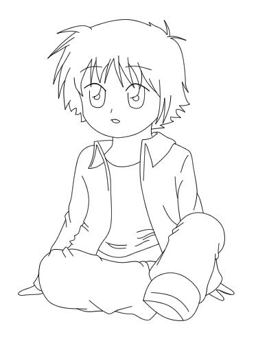 373x497 Gallery Little Anime Boy Drawing,