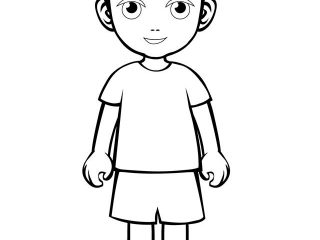 320x240 Little Kid Coloring Draw People Coloring Pages Fresh