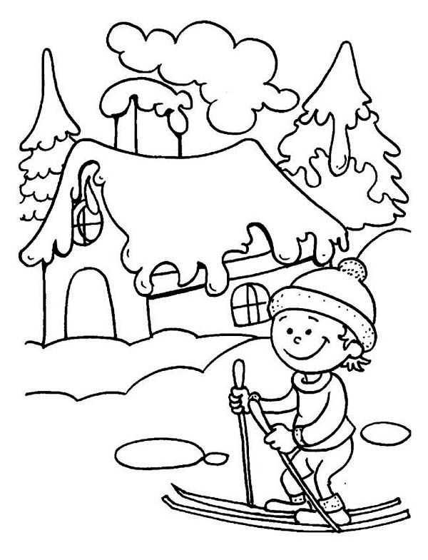 600x785 Young Little Kid Learning How To Play Ski On Winter Season