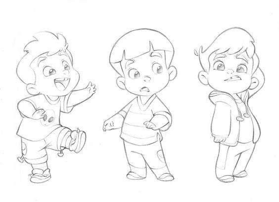 564x409 Cartoon Kid Drawing 13420