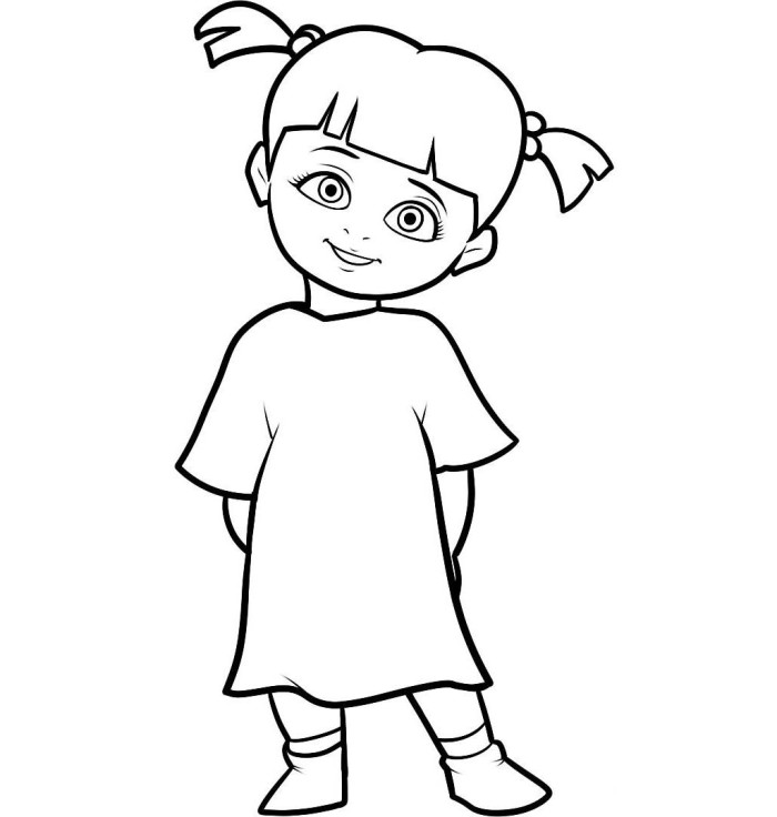 700x736 Little Boo Character Monster Inc Coloring Pages