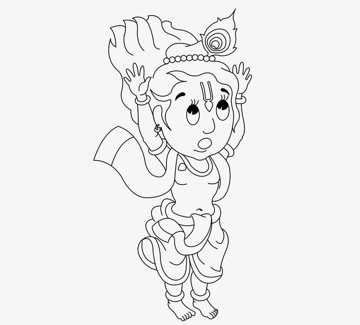 1224x1105 Colour Drawing Free Wallpaper Little Krishna For Kid Coloring