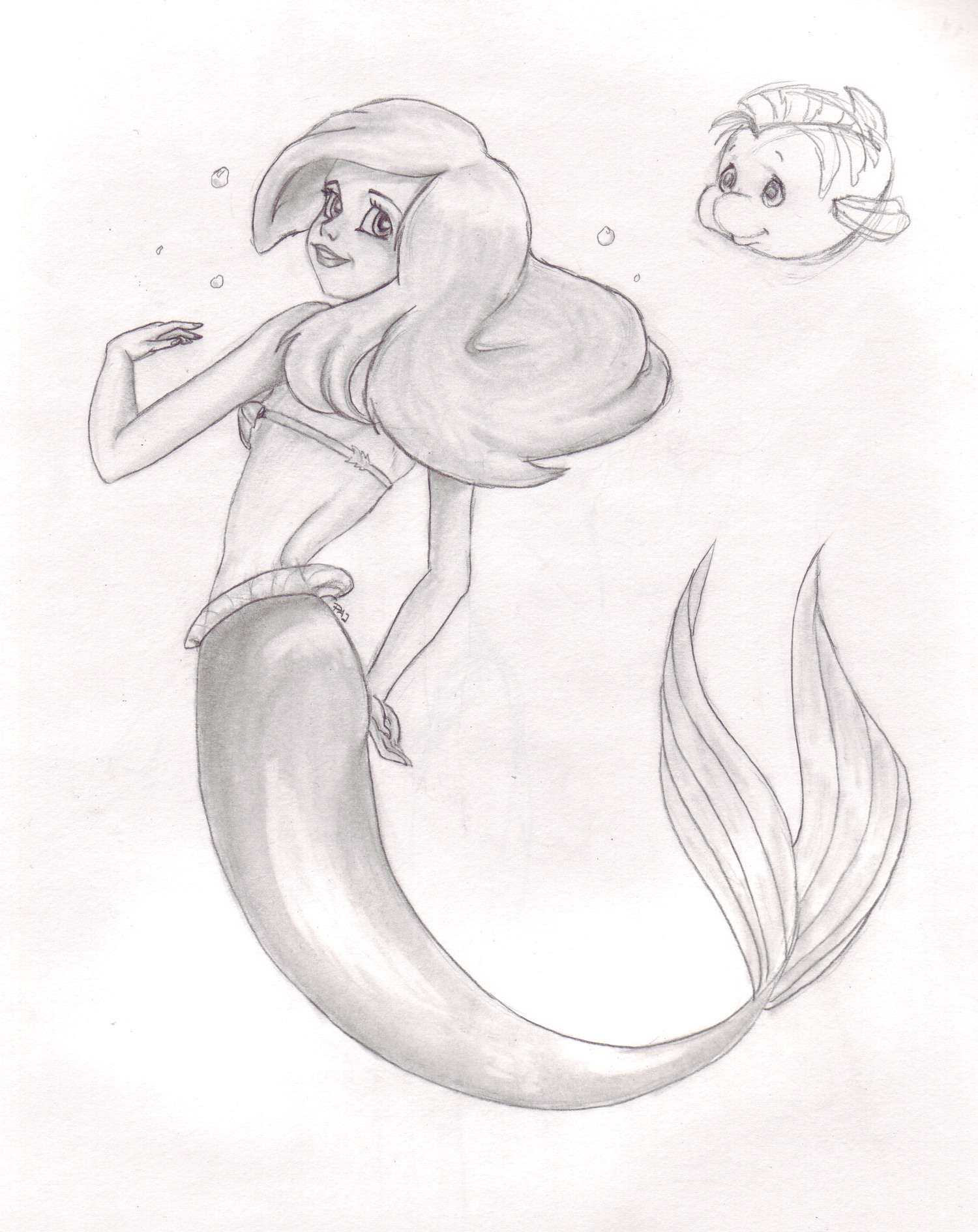 Little Mermaid Drawing At Getdrawings Com Free For Personal Use