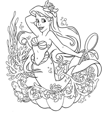 356x400 Drawings Of Disney The Little Mermaid Drawing Coloring ~ Child
