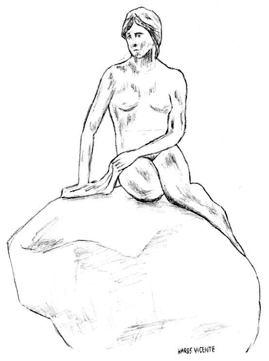 554x743 Sketches For 2014, Number 29 The Little Mermaid Art Fn