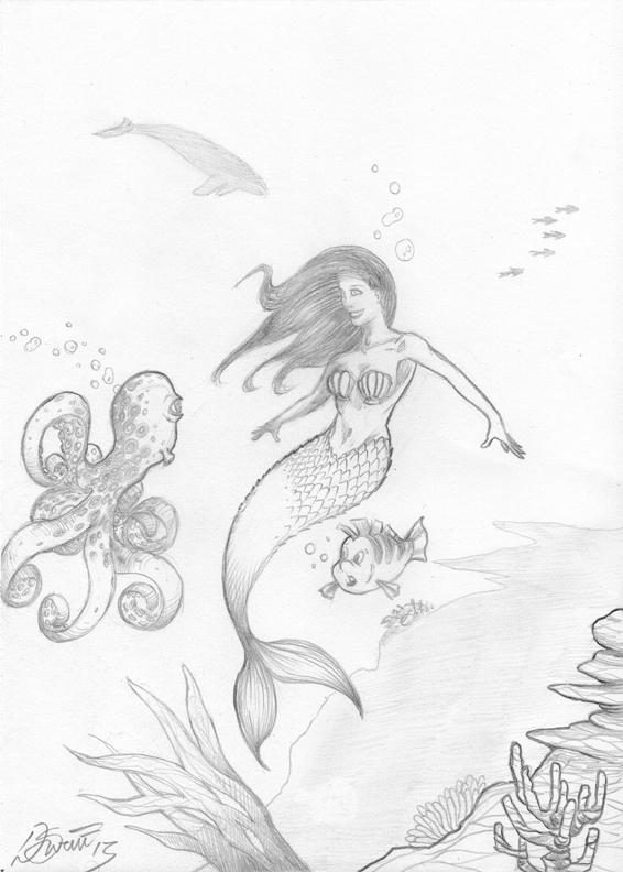 566x792 Dennis M. Sweatt Comic Book Creations And Design! Little Mermaid