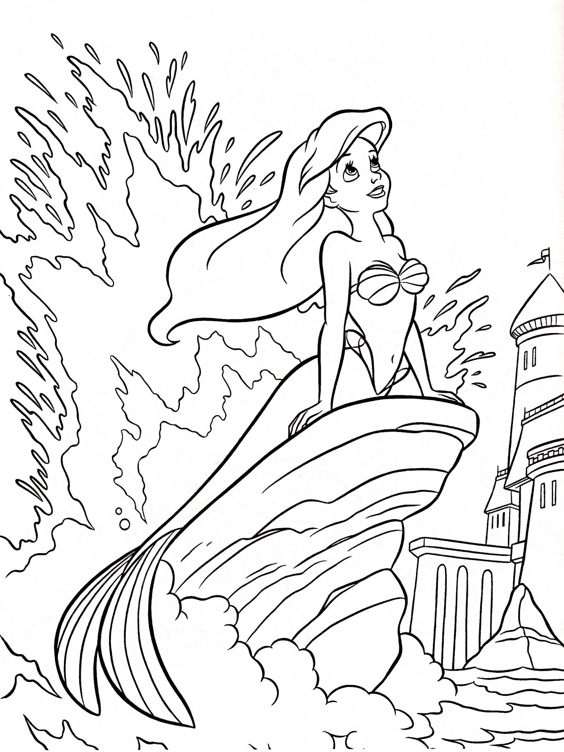 1900x2532 Disney Little Mermaid Coloring Pages To Print Preschool For Good