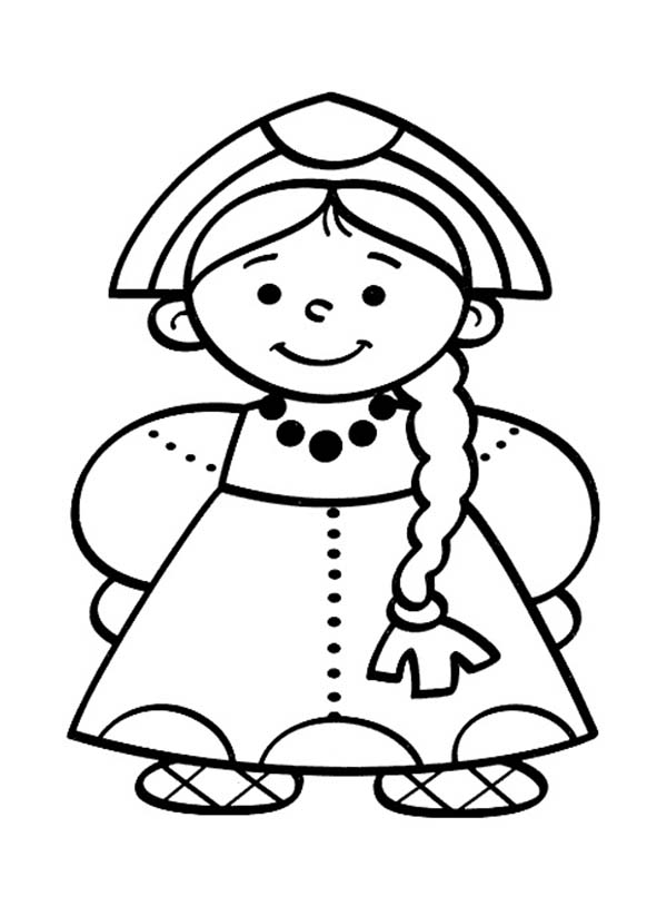 600x814 Little People Dutch Girl Coloring Pages Batch Coloring