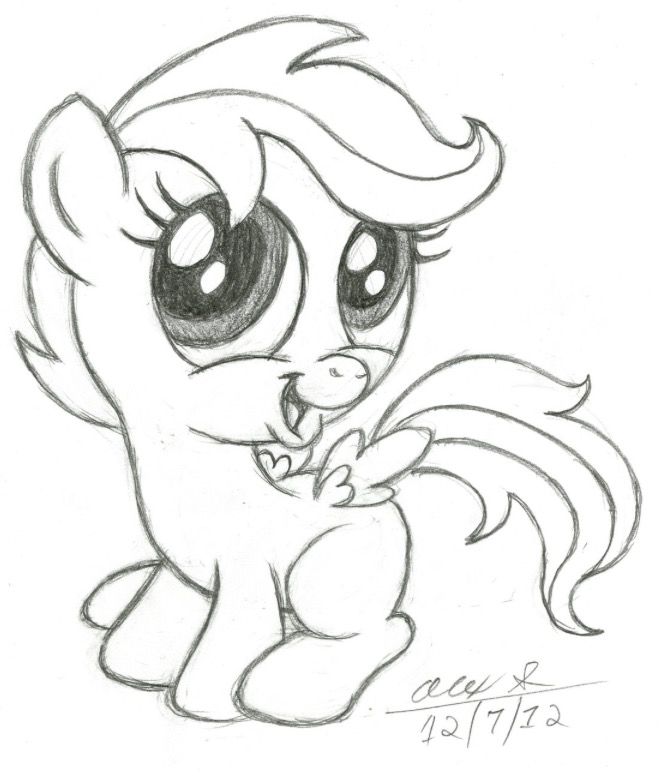 658x772 A Little Pony Awe. Cute Drawings Pony And Draw