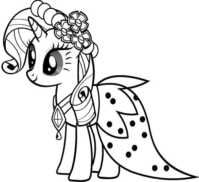 700x641 Cute Baby Rarity My Little Pony Coloring Page
