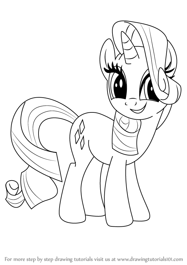 597x844 Learn How To Draw Rarity From My Little Pony Friendship Is Magic