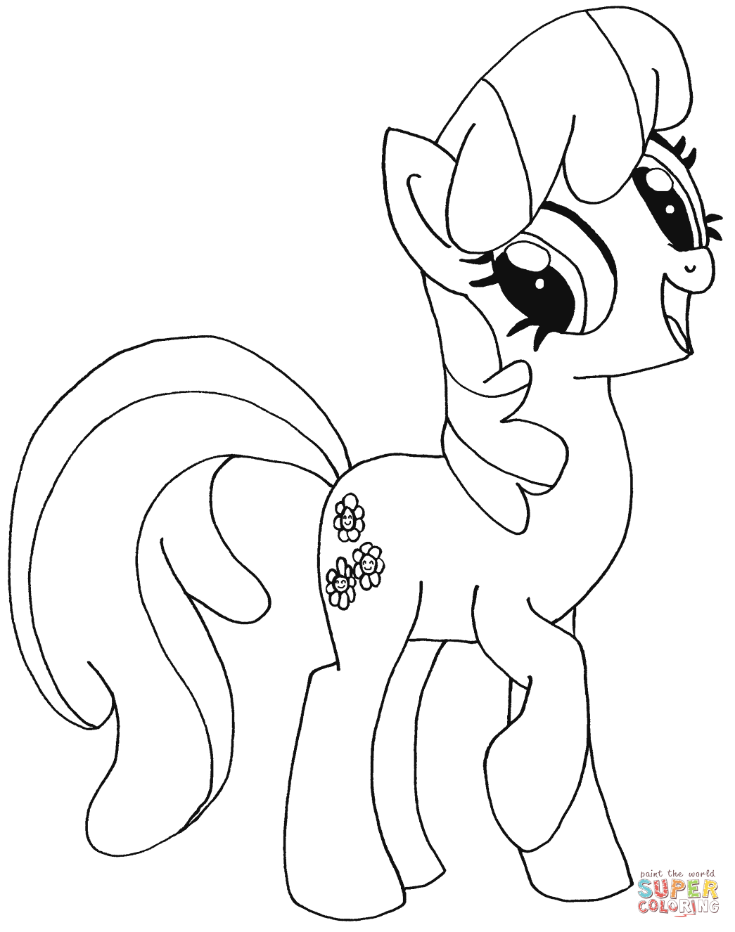 1045x1326 My Little Pony Coloring Pages Free