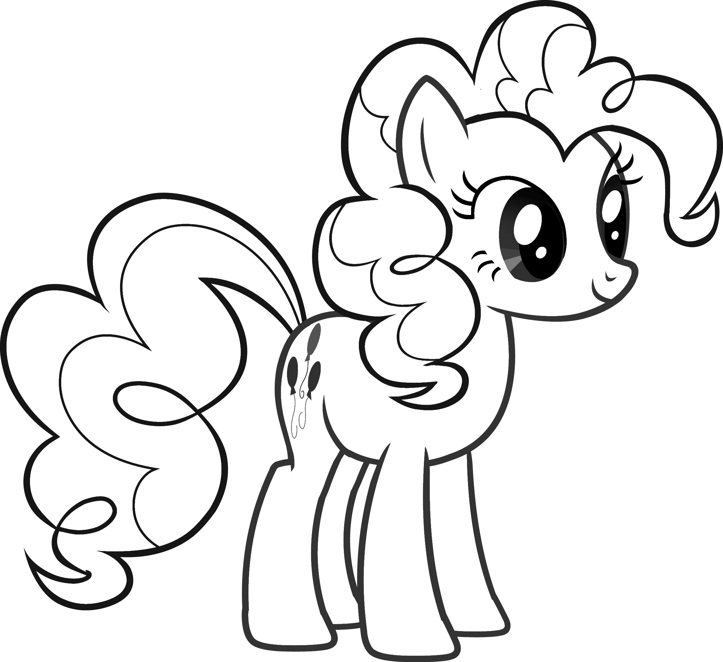 Little Pony Drawing At Getdrawingscom Free For Personal Use - Little-pony-coloring-page