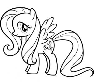 302x265 My Little Pony Drawings How To Draw Fluttershy, My Little Pony