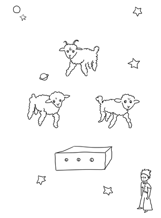 317x430 Draw Me A Sheep Coloring Page From Little Prince Category. Select