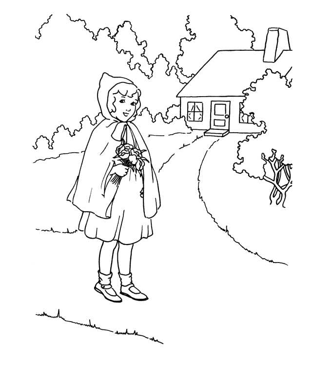 642x789 Little Red Riding Hood Coloring Pages