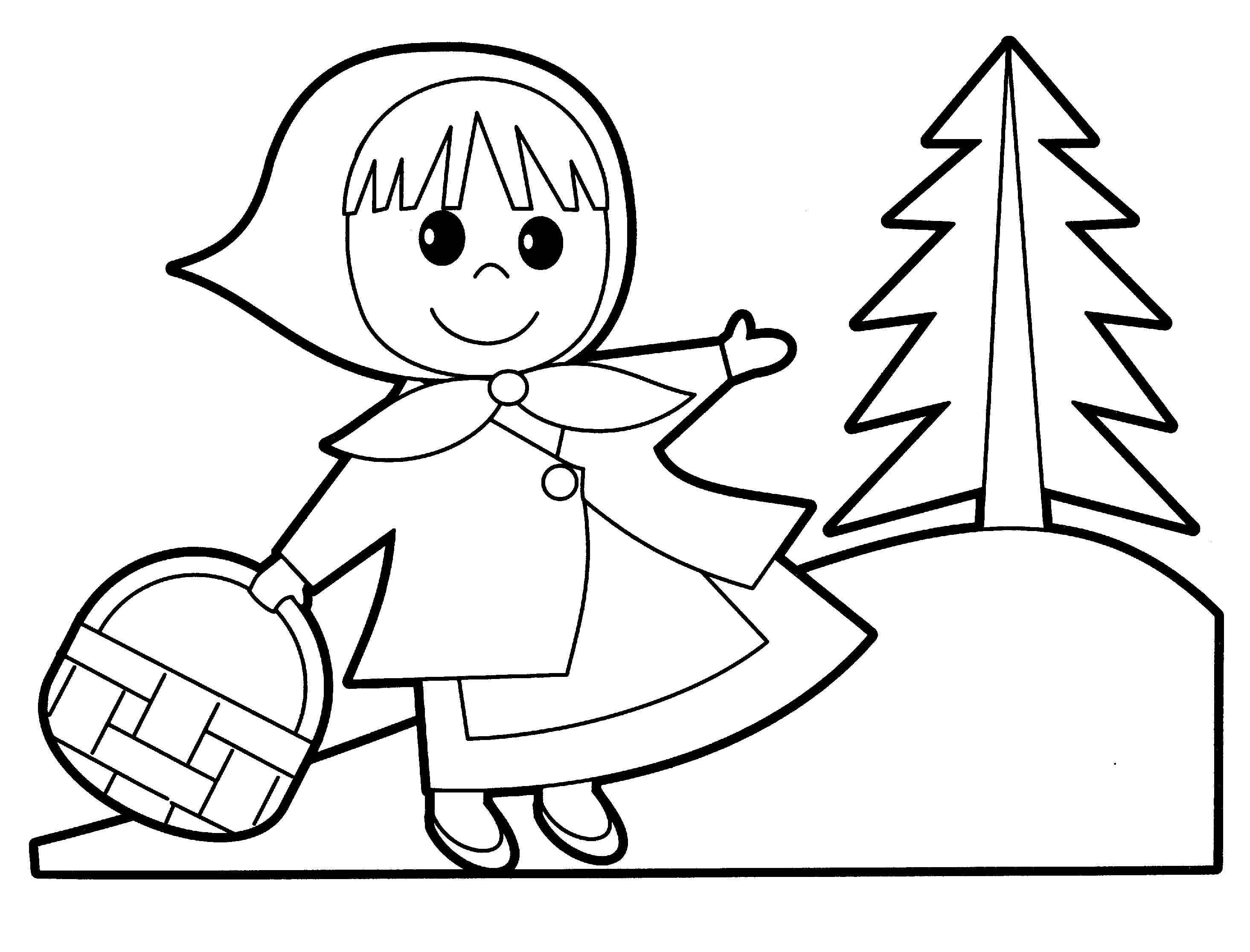 2930x2232 Little Red Riding Hood Coloring Pages Paginone.biz