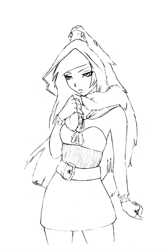 569x850 Little Red Riding Hood Lineart By Berrie25