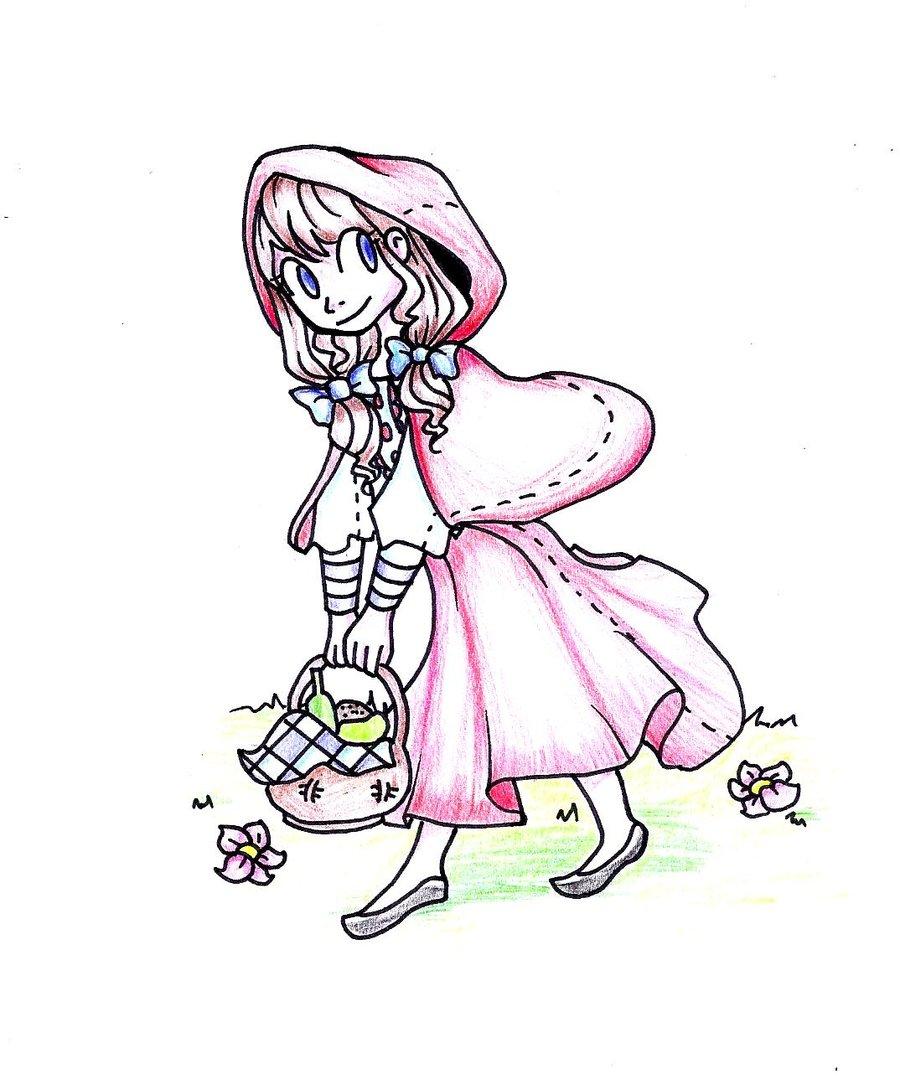900x1079 Little Red Riding Hood By Looji
