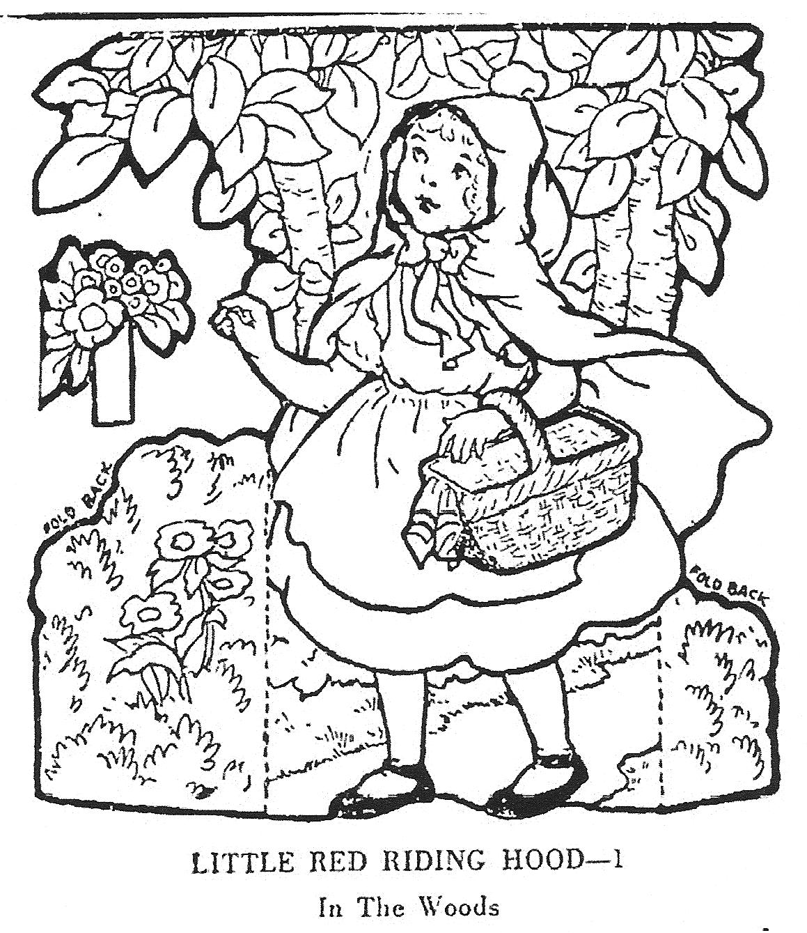 1159x1339 Mostly Paper Dolls Little Red Riding Hood, Junior Editors, 1955