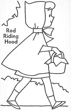 236x372 Little Red Riding Hood For Coloring