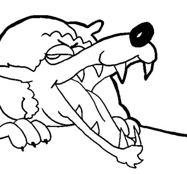 600x558 evil wolf little red riding hood coloring pages batch coloring