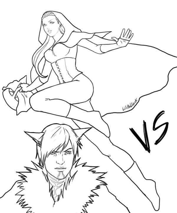 600x724 Gwern Little Red Riding Hood Vs The Little Wolf By Lilithblack
