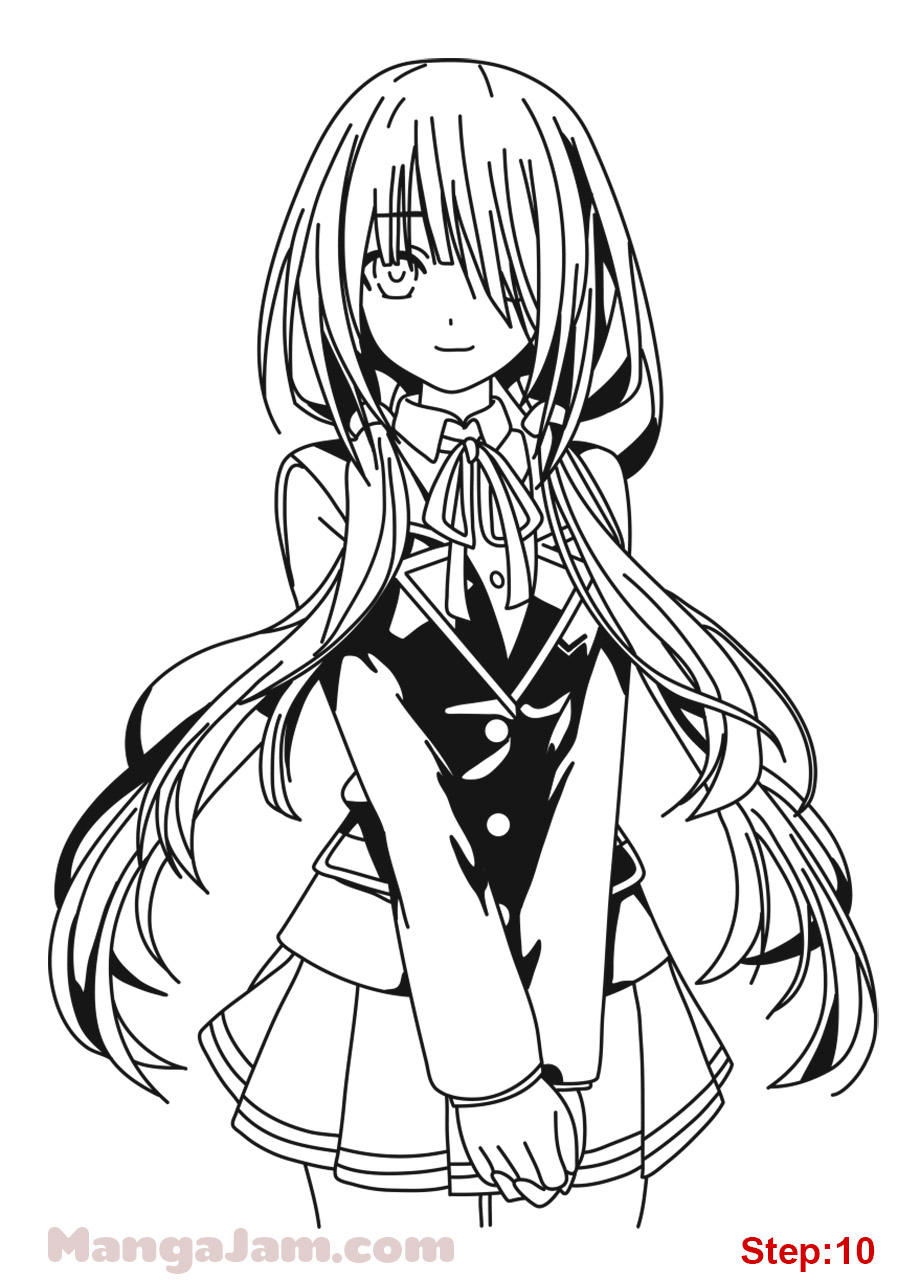 920x1280 How To Draw Kurumi Tokisaki From Date A Live Step 10 Crafts
