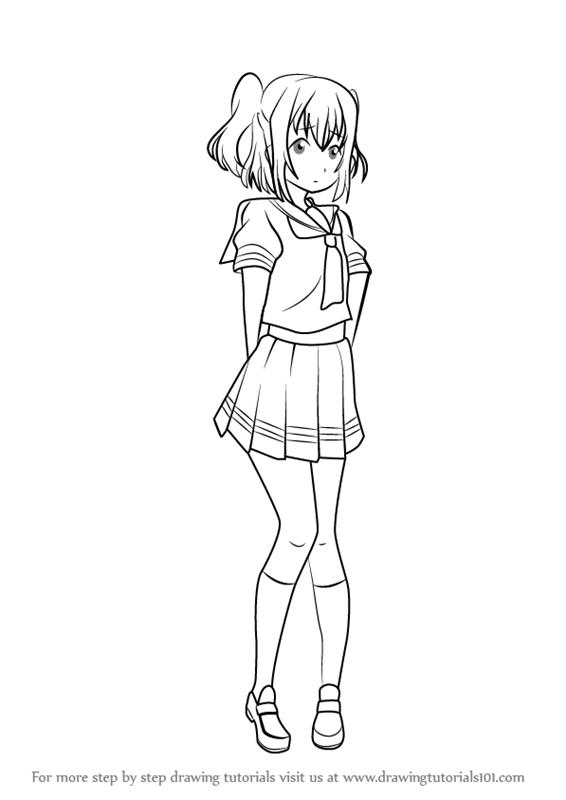 566x800 Learn How To Draw Ruby Kurosawa From Love Live! Sunshine!! (Love