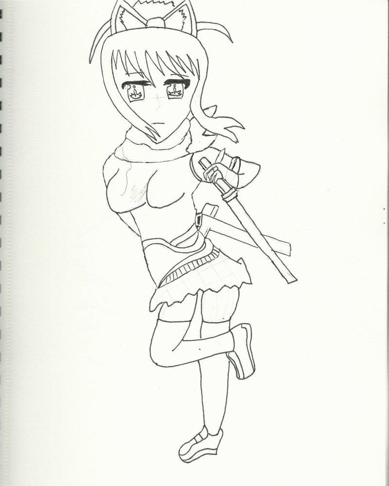 800x999 Senran Kagura )asuka Figurine Live Drawing By Forzakatana100