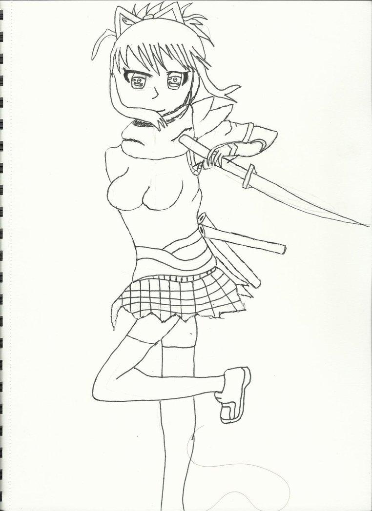762x1048 Senran Kagura Asuka Live Drawing Attempt 2 By Forzakatana100