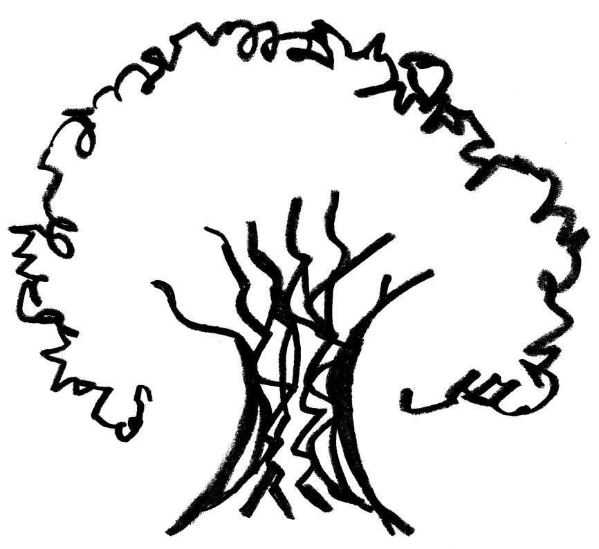 866x794 Tree Sketch Clipart