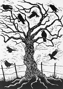 213x300 Black And White Oak Tree Paintings Fine Art America