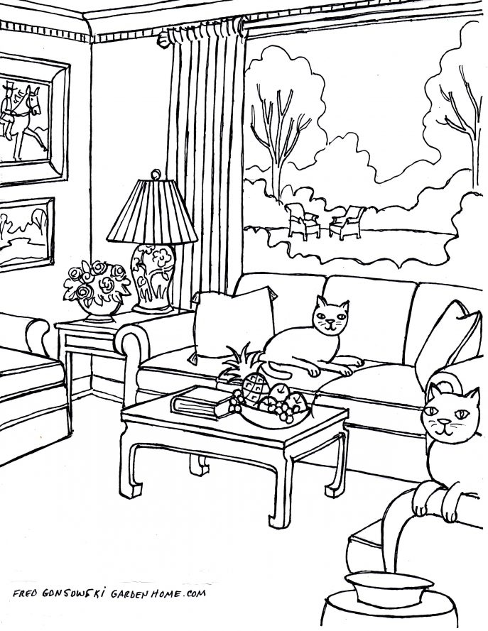 687x889 Living Room Living Room Drawing Drawings Step By Picturesque