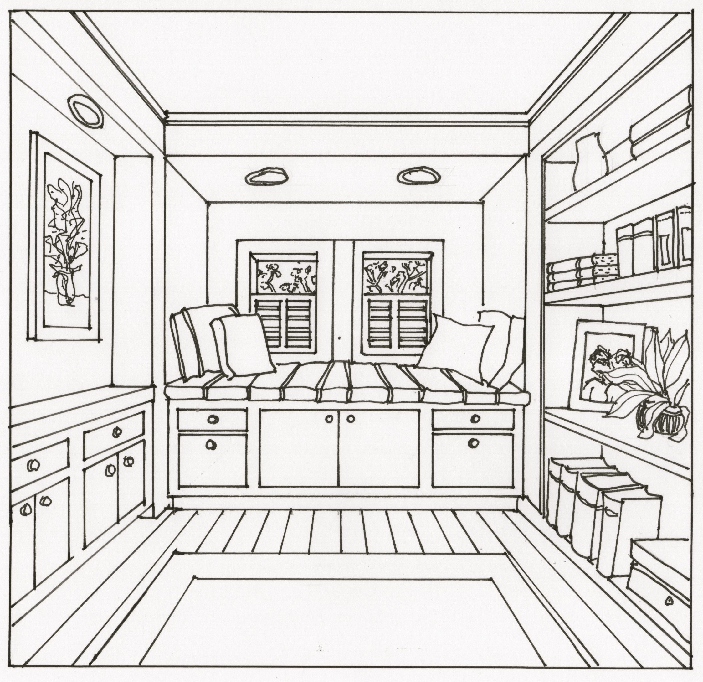 drawings of living rooms living room drawing at getdrawings free for personal 16101