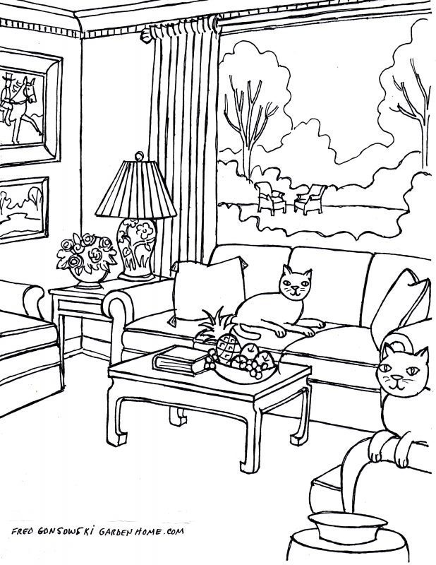 618x800 Modern Design For Perspective Living Room Drawing In Your Home