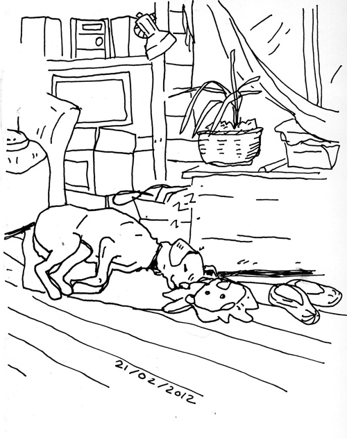 500x631 Christmas Living Room Drawings