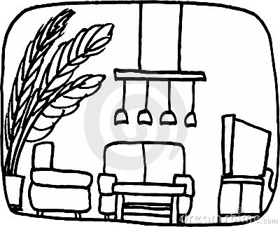 400x324 Drawing Clipart Living Room