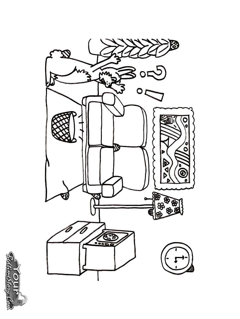 794x1054 Living Room Coloring Pages Free