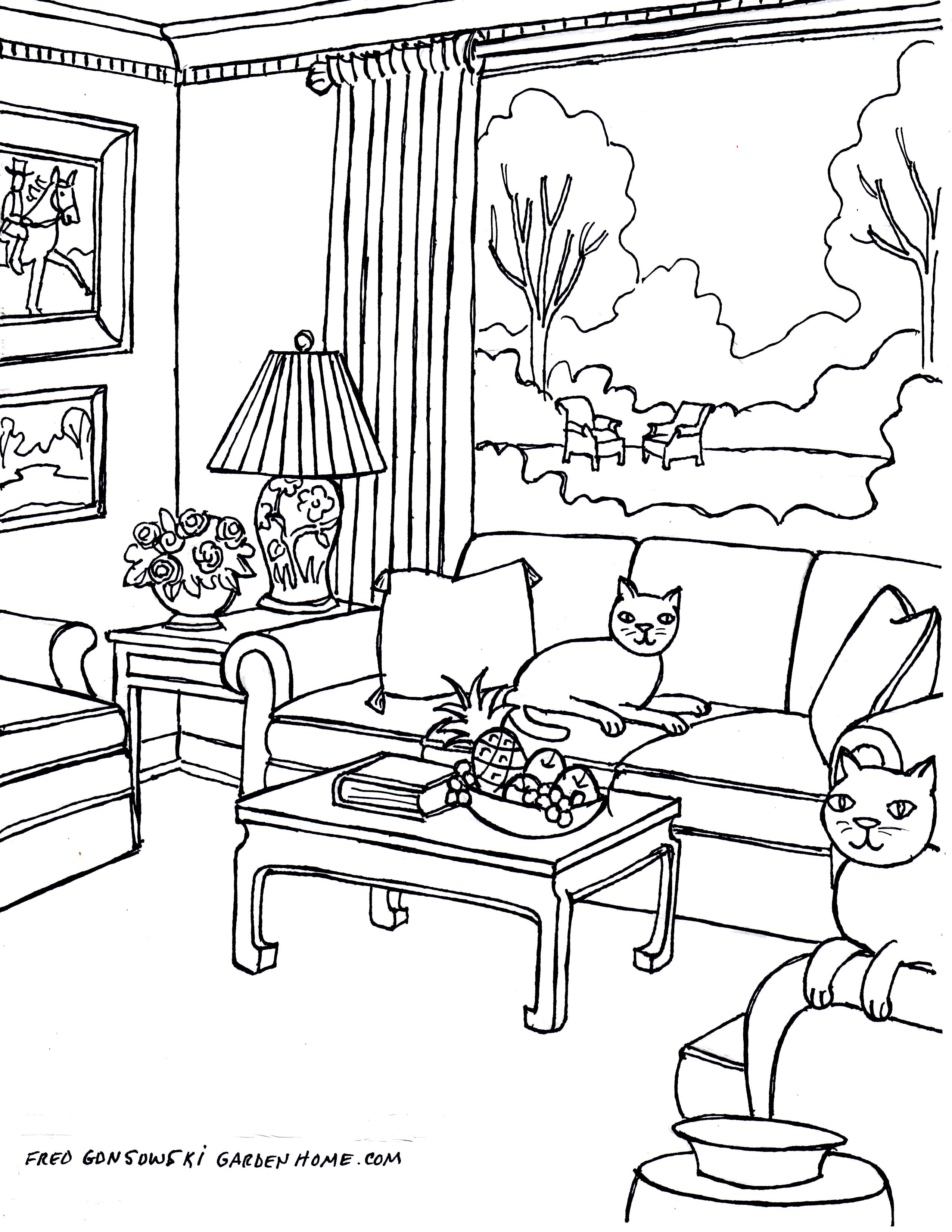home furniture coloring pages - photo#23