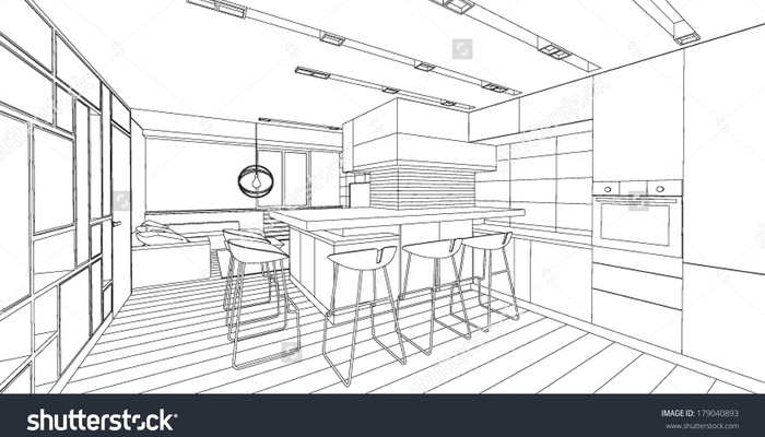 700x400 Living Room Drawing Simple