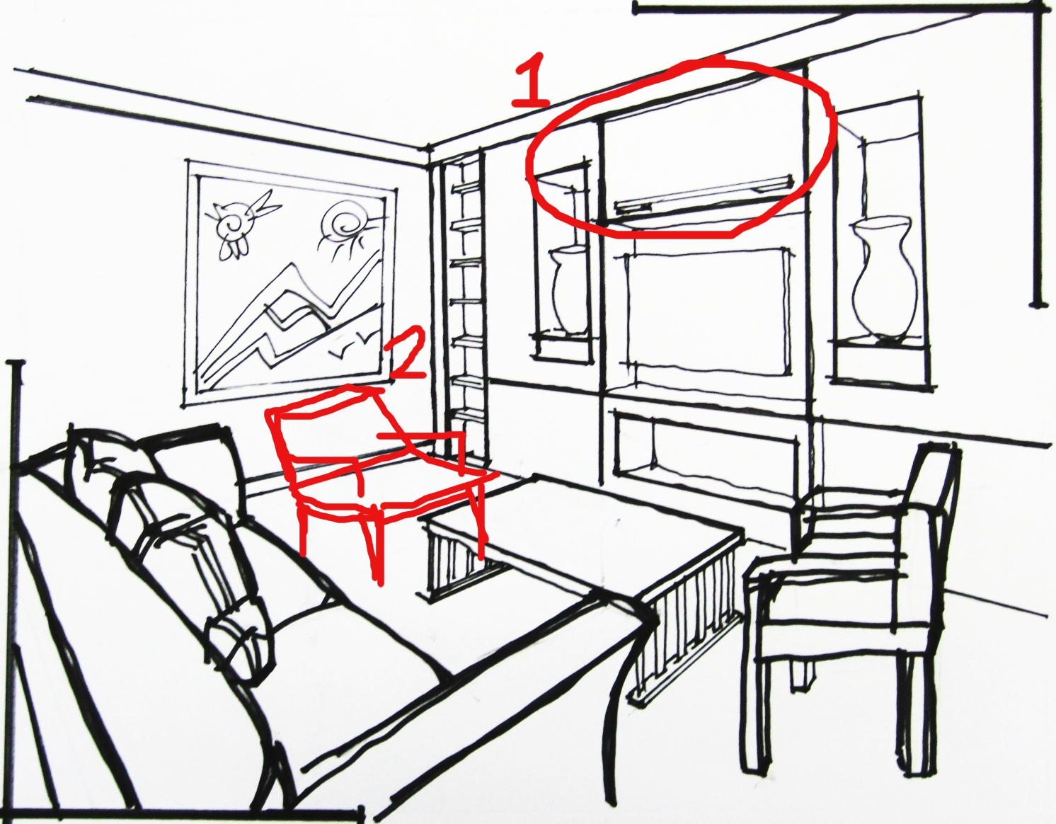 1492x1164 3d Sketches The Living Room (2) Scribblelicious