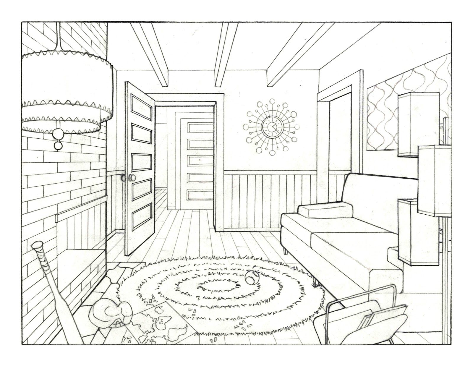 1600x1238 New Living Room Drawing Small Home Decoration Ideas Amazing Simple