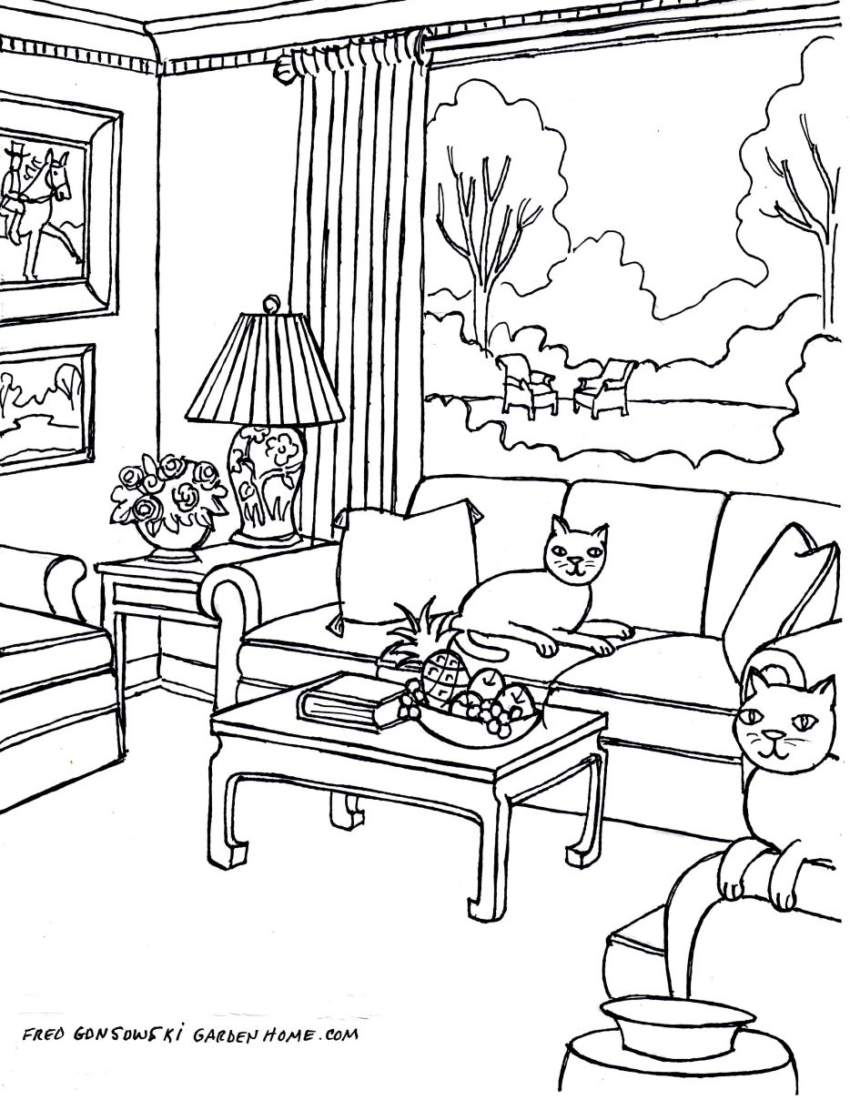 934x1209 Living Room Line Drawing Tags 96 Excellent Drawing Of Living