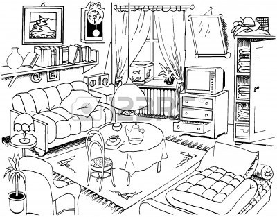 400x313 Awesome Living Room Drawing Living Room Idea