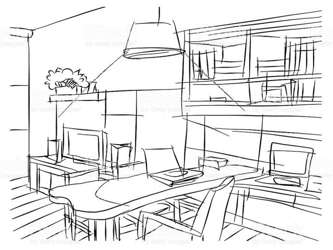 687x515 Living Room Picturesque Living Room Drawing Images Ideas Step By