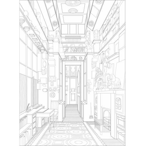 500x500 Sir John Soane's Study Room Dogma Perspective