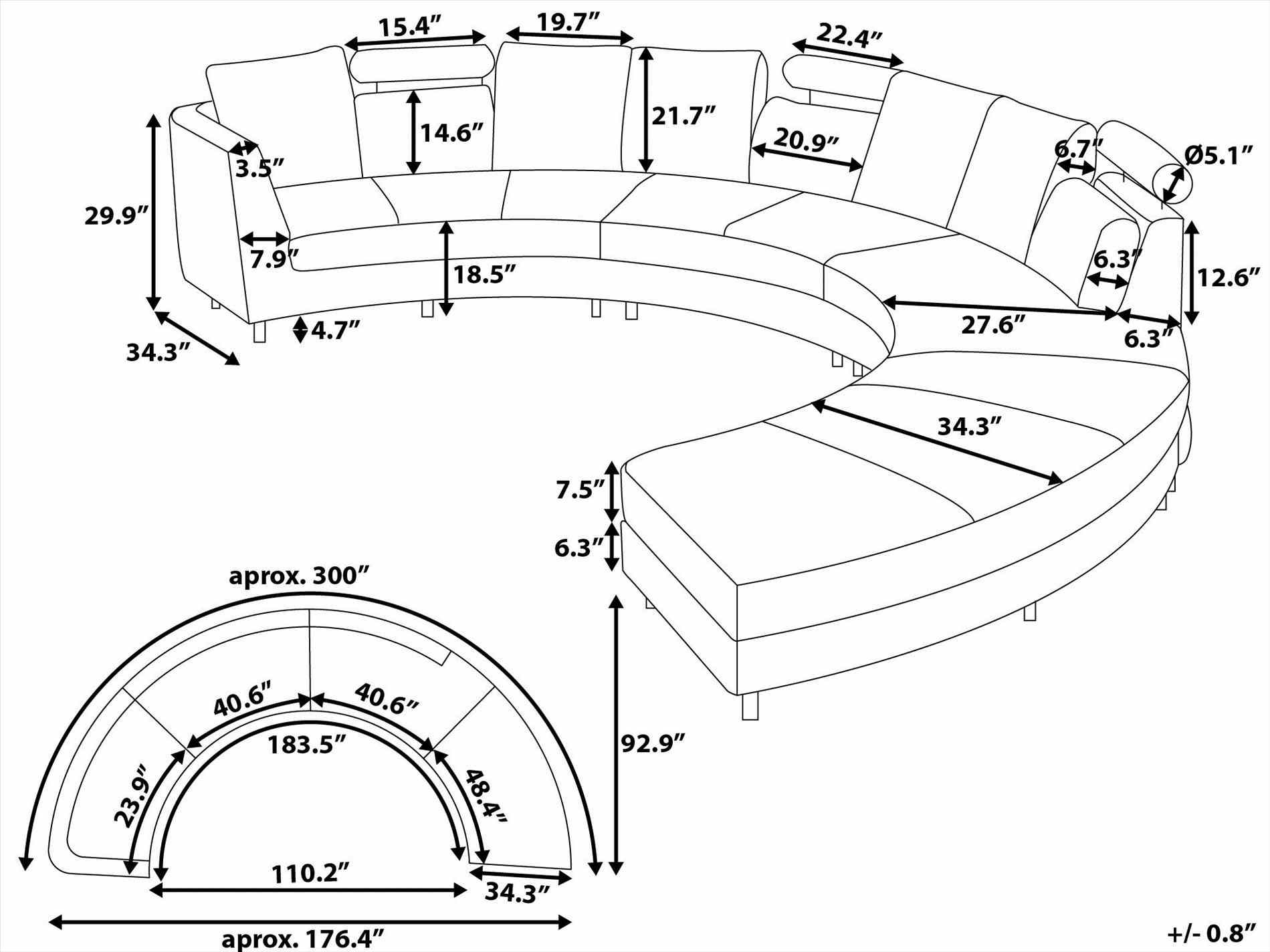 1899x1424 Sofa An Exciting Living Room Furniture Curved Sofa Drawing Using