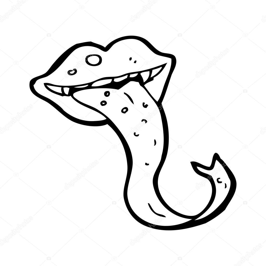 1024x1024 Gross Lizard Tongue Cartoon Stock Vector Lineartestpilot